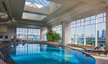 Indoor Swimming Pool at Hilton Tokyo Odaiba