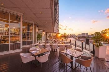 Grillogy Bar and Grill Restaurant Terrace at Hilton Tokyo Odaiba