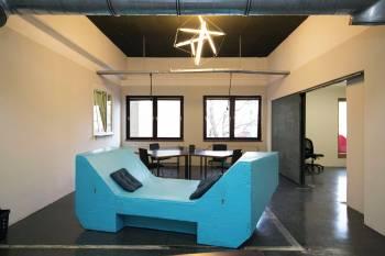 Ausgefallener Workshopraum in Coworking Space