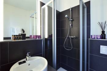 Badezimmer im hotel friends Köln