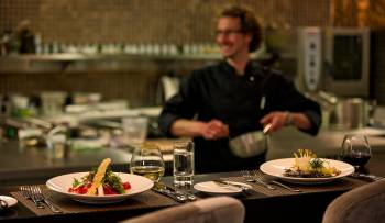 scent Restaurant: open kitchen and Chef's Table