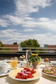 Frühstück Dachterrasse