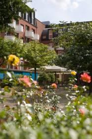 Ruhiger Park mit Biergarten